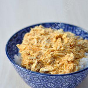 Poulet effiloché au curry et lait de coco (au Cooking Chef)