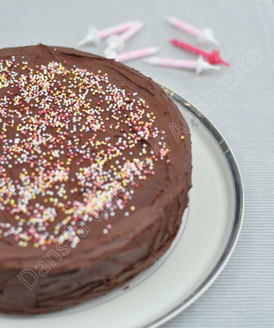 Gâteau damier chocolat vanille