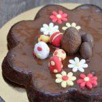 Gâteau chocolat carambar pour Pâques (sans gluten)