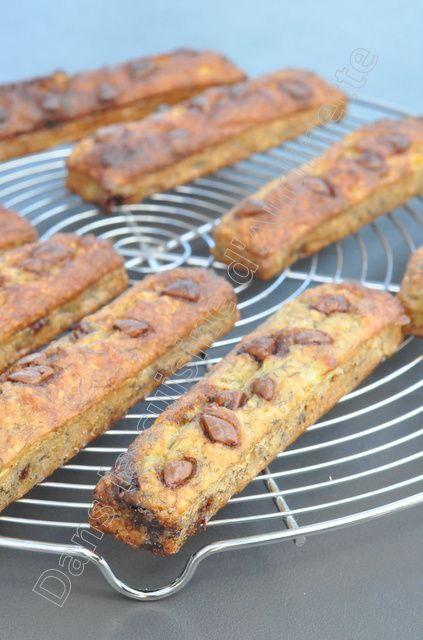 Barres banane chocolat, sans beurre, sans sucre et sans gluten