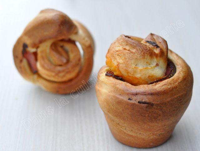 Muffins briochés au jambon et cheddar