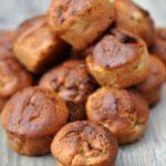 Muffins à la banane et à la ganache au carambar
