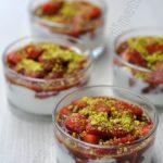 Compotée de fraises, base crèmeuse au mascarpone