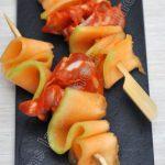 3 idées de bouchées apéro au melon