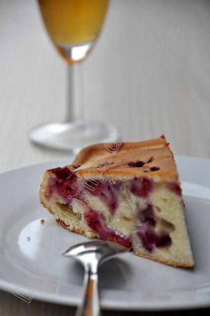 Gâteau aux framboises et mascarpone
