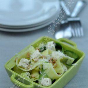 Salade de tagliatelles de courgette à la feta