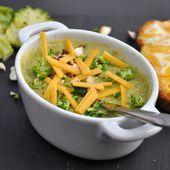 Soupe de brocoli à la bière et au cheddar - Dans la cuisine d'Audinette