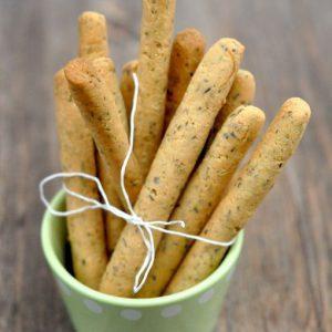 Gressins sans gluten à la poudre d'amande