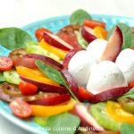 Carpaccio de tomates et Nectavigne à la mozarella di bufala