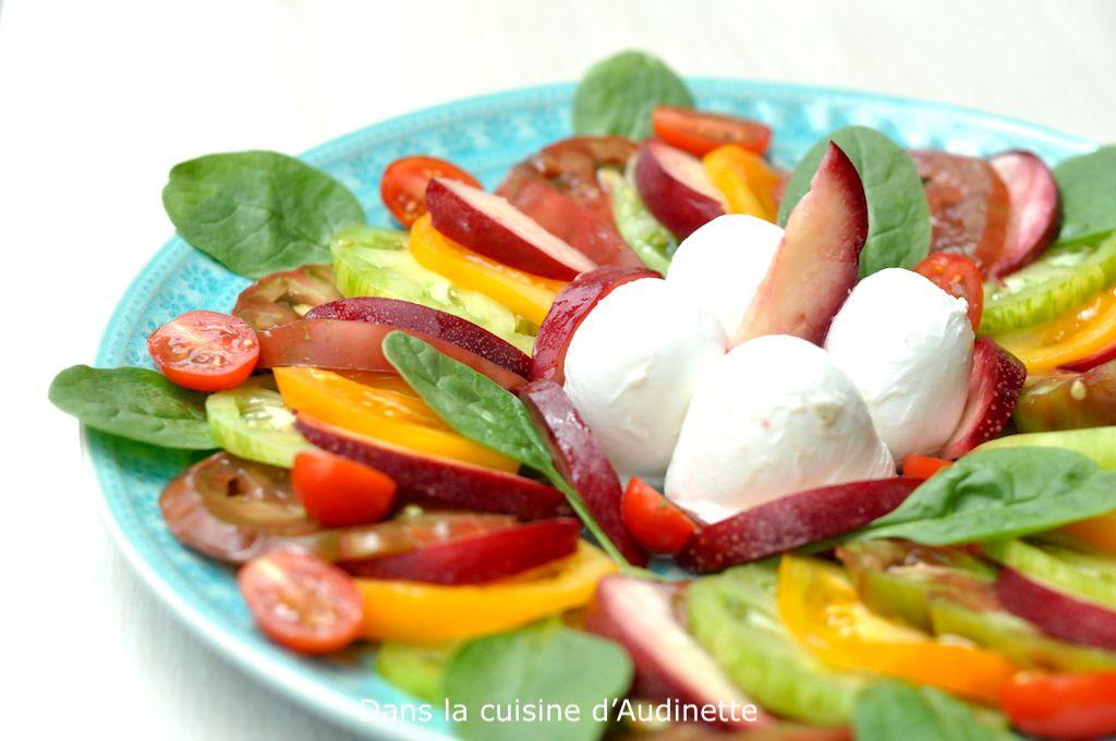 Carpaccio de tomates et Nectavigne® à la mozarella di bufala