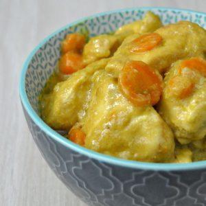 Poulet au curry et aux carottes