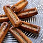 Lingots banane, coco et pépites aux chocolat (sans gluten)