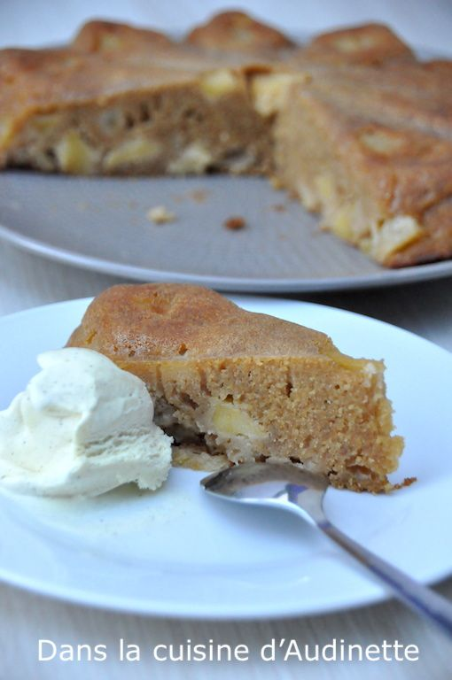 Gâteau pomme citron à la crème fraîche