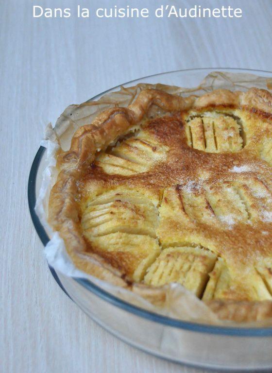 Flan feuilleté aux pommes et coco