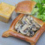 Croustade aux champignons, sauce foie gras