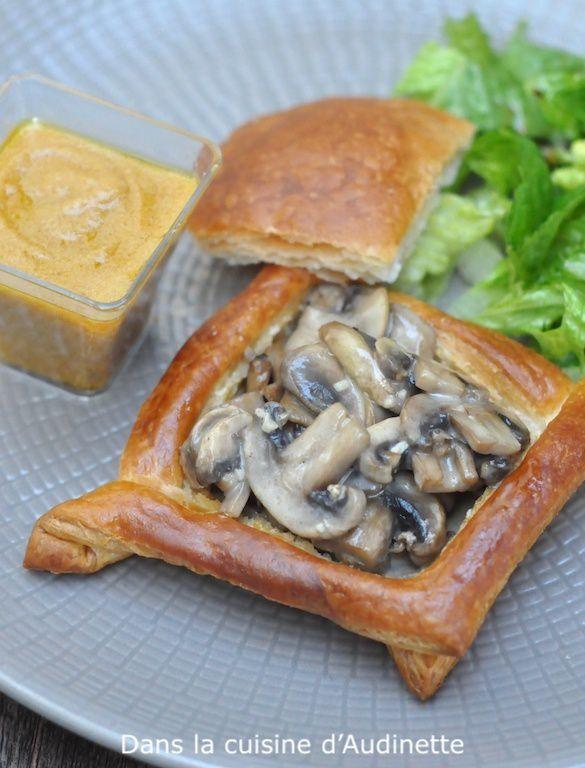 croustade de champignons sauce foie gras