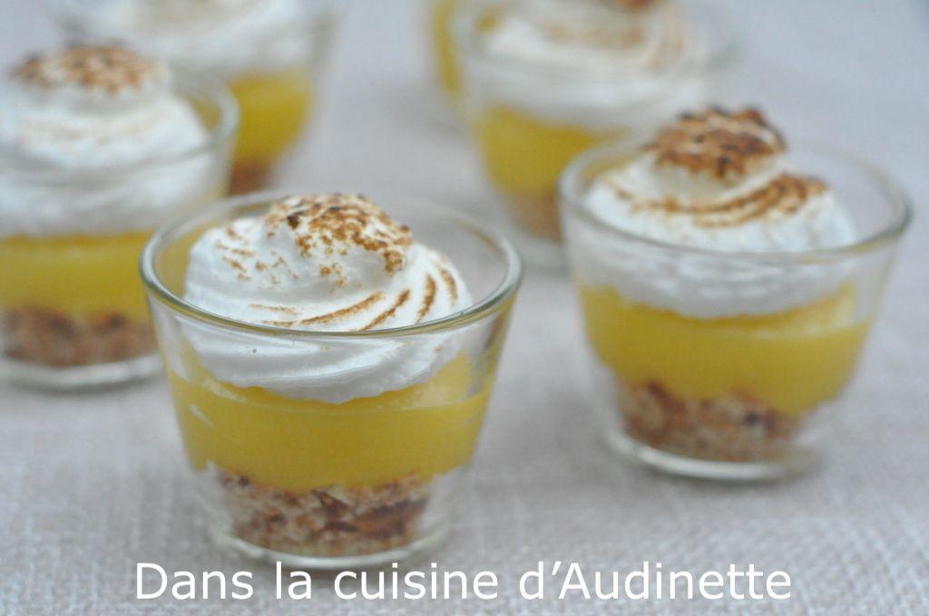 verrine tarte au citron