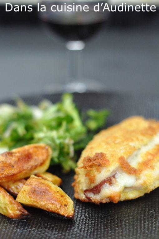 Cordon bleu maison (poulet, coppa et fromage de brebis)
