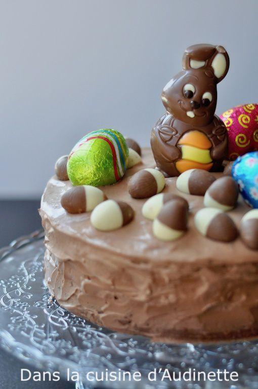 Gâteau au café et au chocolat pour Pâques