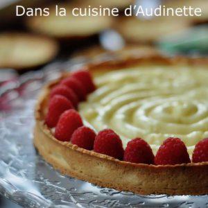Tarte aux framboises à la crème pâtissière