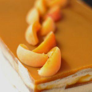 Entremet pistache abricot
