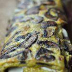 Omelette roulée aux champignons, coppa et cheddar (cuisson au four)