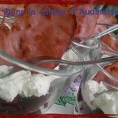 Verrine de betteraves et crème de mascarpone et ricotta - Dans la cuisine d'Audinette