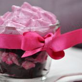 Ma Recette rose : verrine de cabillaud et betterave, chantilly de betterave - Dans la cuisine d'Audinette