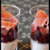 Verrine #2/3 - Mousse de jambon au boursin et ses dés de betteraves - Dans la cuisine d'Audinette