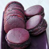 Macarons au cassis - Dans la cuisine d'Audinette