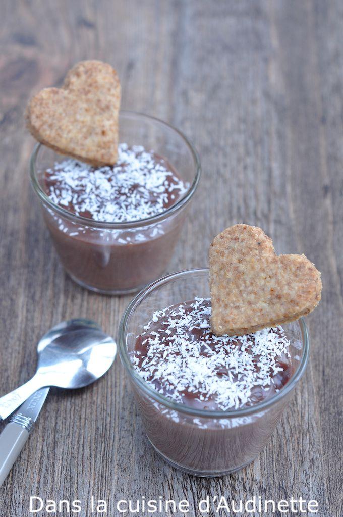 Crème chocolat vegan et sablé sans gluten pour la St Valentin