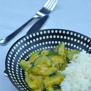 Curry de courgettes au lait de coco